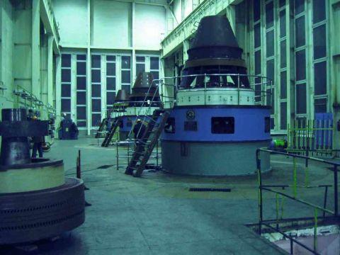 Машинный зал Серебрянской ГЭС-16